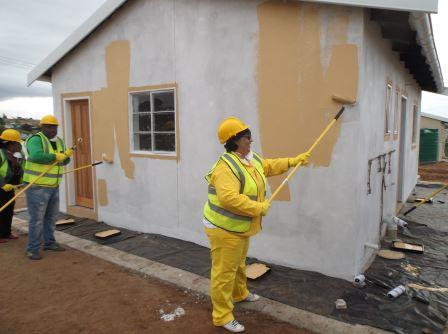 ONE BY ONE: Eastern Cape department of human settlements MEC Helen Sauls-August visited Kenton-on-Sea recently to hand over 20 of 564 promised RDP houses. The intention is to have all the promised houses finished by the end of the year
