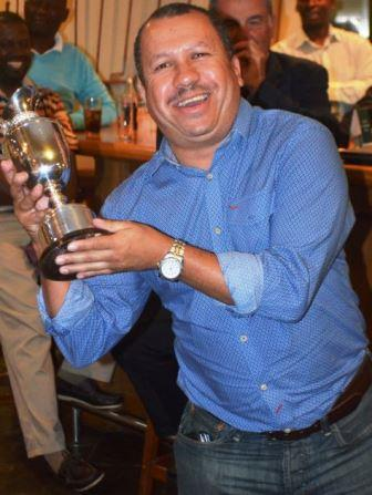 BIG PERSONALITY: Lester Jacobs from Royal Cape Golf Club took the Claret Cup home after being elected as the most enthusiastic player of the tournament Picture: LOUISE CARTER