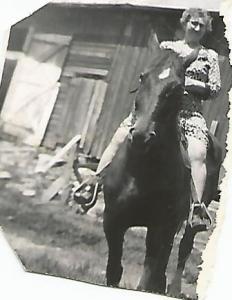 Grandma on Horse '50s