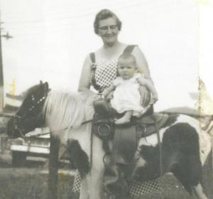 Marion Gram and Pony 1956