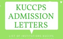 KUCCPS Admission Letters 2021/2022 – Lists of School's Admission Letters 2020/2021