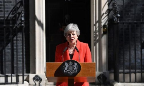 Image result for Theresa May officially steps down as Tory leader