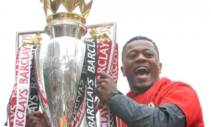 Patrice Evra won five Premier League titles with United two in the decade