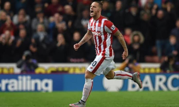 The Austria forward spent four years at Stoke before leaving for West Ham