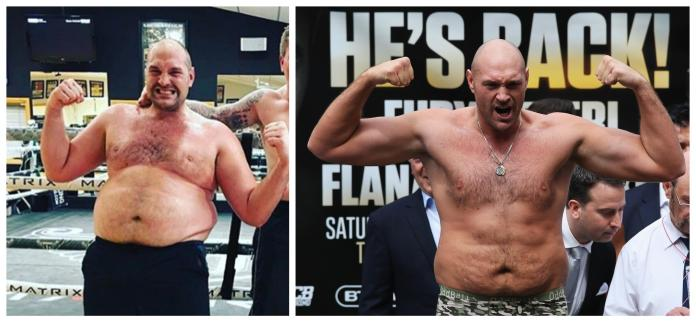 Fury has shed some serious pounds to make it back to the top