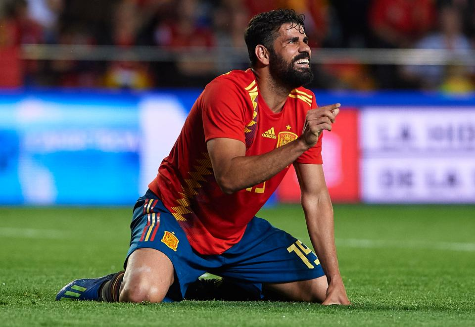 Spain striker Diego Costa is expected to start for Julen Lopetegui's side