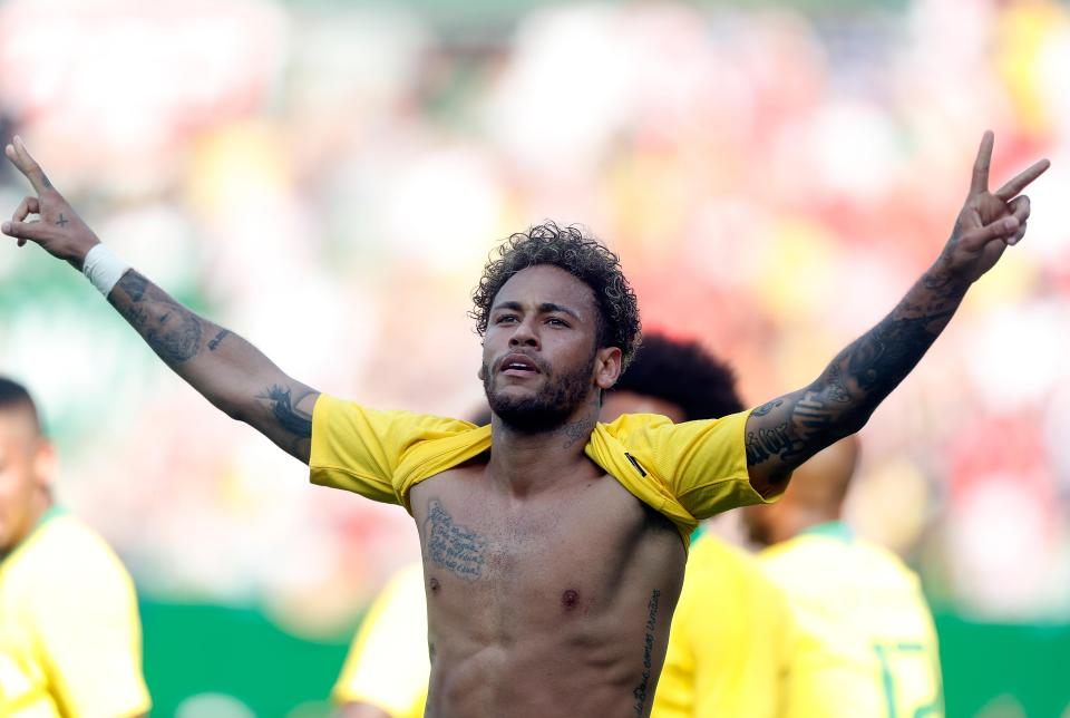 The Brazilian superstar will be hoping to fire his country to World Cup glory this summer  Who is the favourite to win the Golden Boot at the World Cup in Russia this summer? GettyImages 9709668881