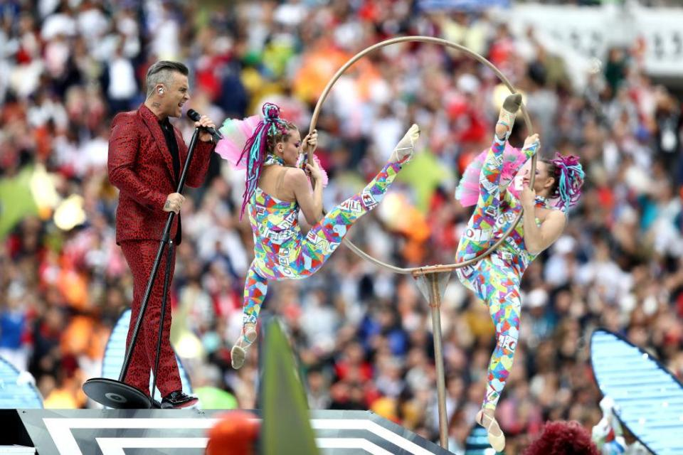 As well as having a British popstar performing the ceremony had a Russian feel to it  The best pictures from the opening ceremony GettyImages 974302272