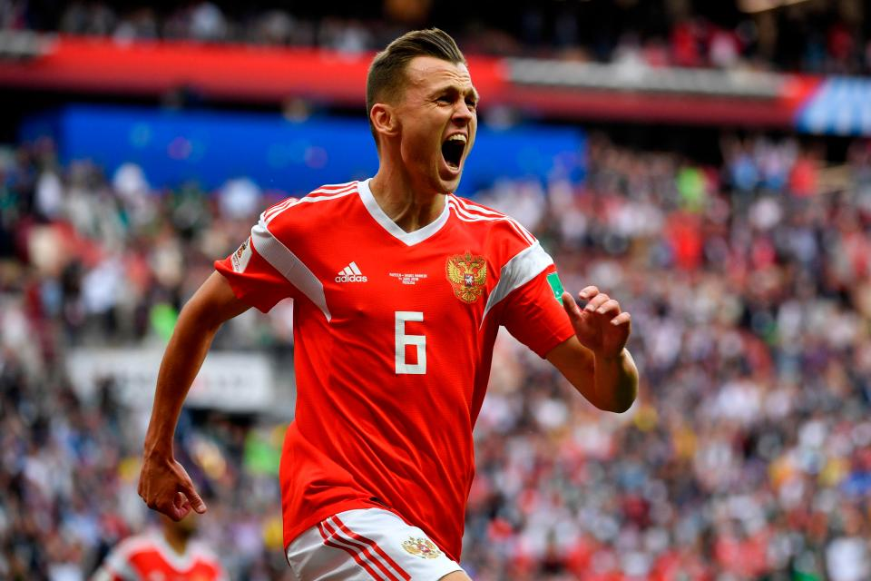 Denis Cheryshev scored two brilliant goals for Russia  Hosts secure stunning victory in World Cup Group A opener GettyImages 974403998