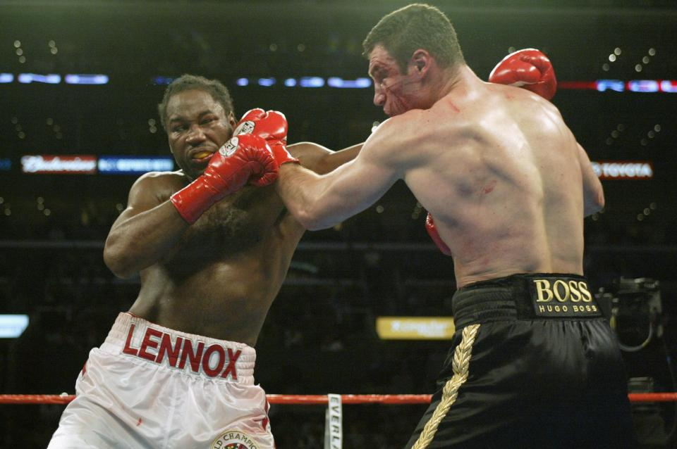 Lennox Lewis and Vitali Klitschko had an epic fight in 2003