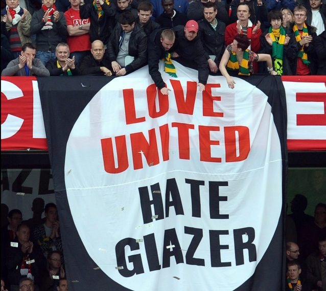 Image result for united fans fly banners for spurs game