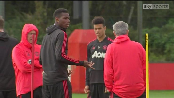 Pogba and Mourinho's alleged bust-up was caught on camera