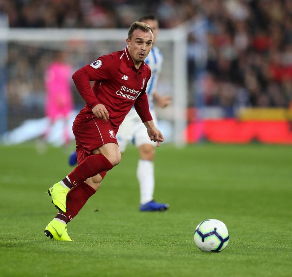 Shaqiri supplied the assist for Mohamed Salah's winning goal against Huddersfield last weekend  Xherdan Shaqiri's style is similar to Philippe Coutinho, claims ex-Liverpool man Neil Mellor GettyImages 1057634788