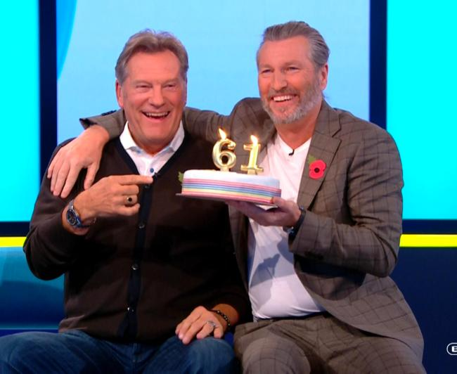 Hoddle was presented with a cake on his 61st birthday on air on Saturday morning  Chelsea and Tottenham legend 'responding well' to treatment after being taken seriously ill Sun screen capture LHM epd  20181027 15561jpeg JS444910484