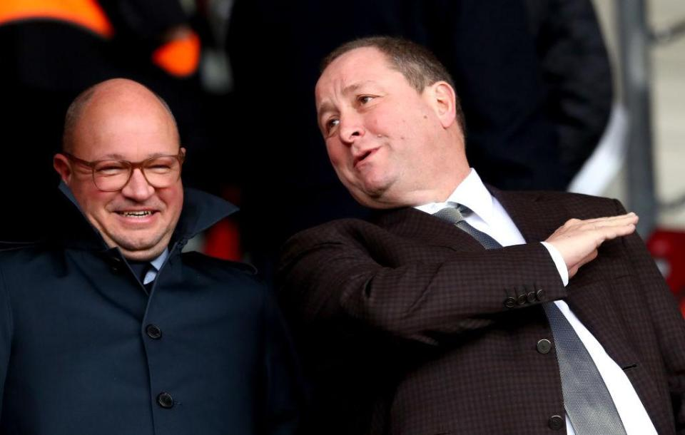 """Newcastle fans have wanted Mike Ashley away from the club for years  Newcastle boss Rafael Benitez defends Jamaal Lascelles' decision to say Mike Ashley is """"a nice guy"""" GettyImages 1054186024"""