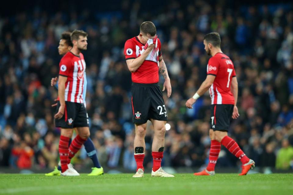 Southampton are just two points above the relegation zone  Pep Guardiola backs Raheem Sterling to continue improving after winger stars during Manchester City's thrashing of Southampton GettyImages 1057274258