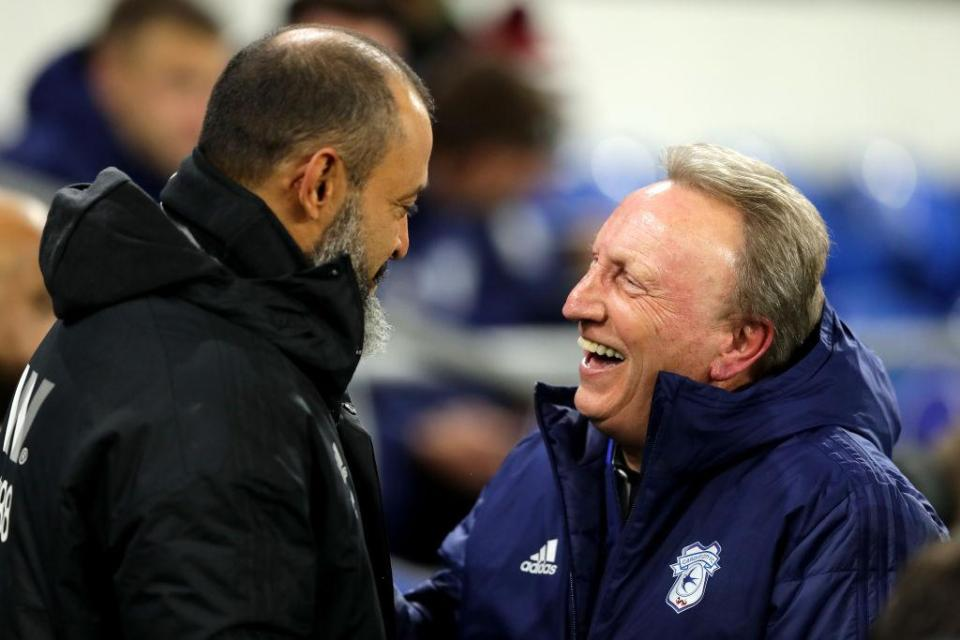 Their appear to be no hard feelings between Espirito Santo and Warnock despite the scenes the last time they faced each other  Junior Hoilett scorcher sees Bluebirds complete hard-fought turnaround win GettyImages 1066870232