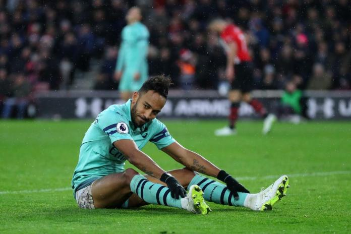 It was not Aubameyang's day in front of goal
