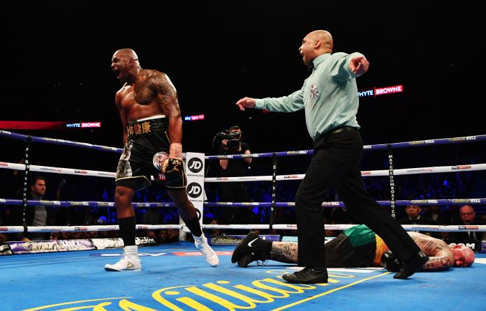 Dillian Whyte brutally knocked out Lucas Browne