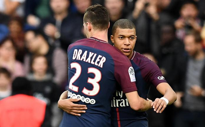 Draxler with his team-mate Mbappe.