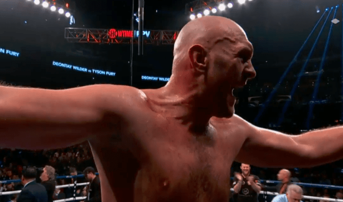 Tyson Fury felt he had won and celebrated at the final bell