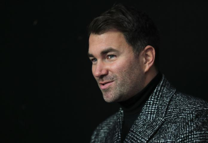 Eddie Hearn could be about to watch another British heavyweight join Frank Warren