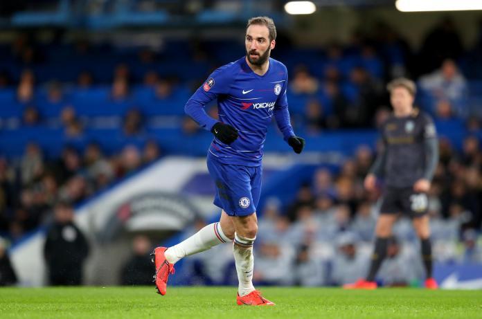 Higuain made his Chelsea debut