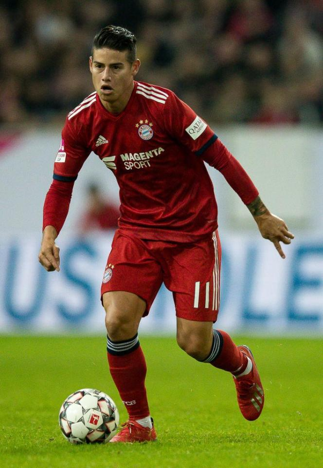 Rodriguez's loan deal at Bayern Munich is up in the summer
