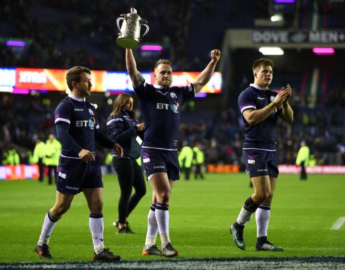 Scotland beat England to win the Calcutta Cup last year