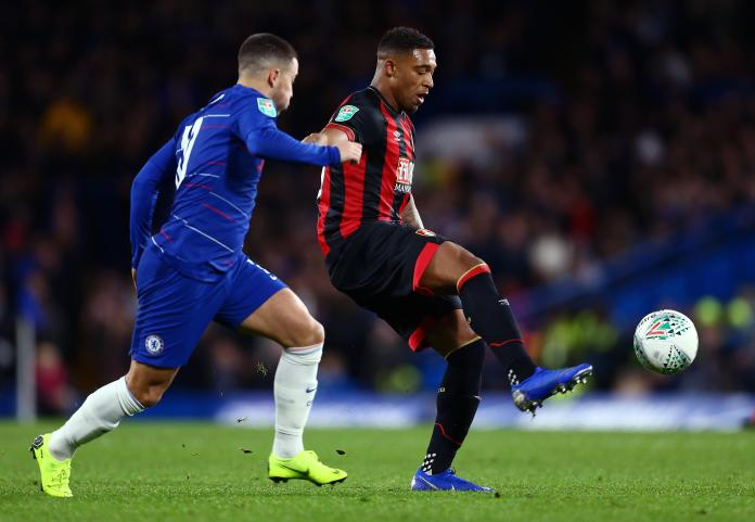 Bournemouth star Jordon Ibe in Carabao Cup action against Chelsea.