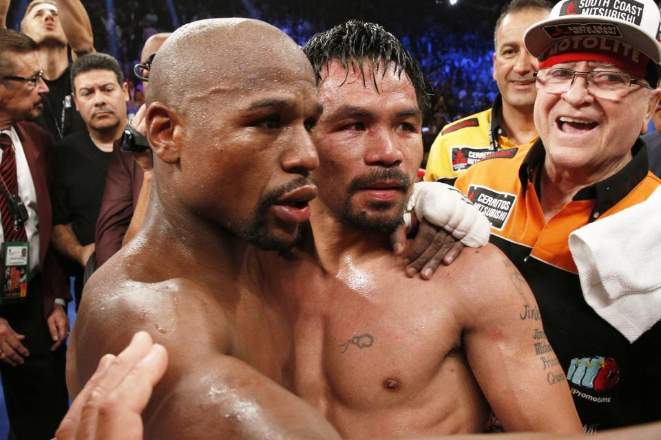 Floyd Mayweather vs Manny Pacquiao generated almost half a billion dollars