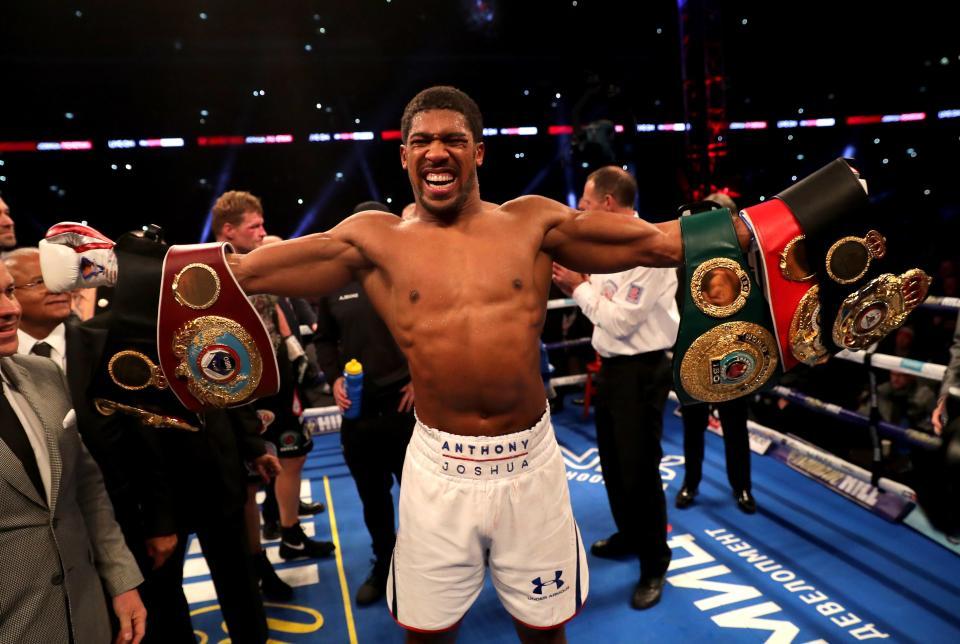 Anthony Joshua is the former WBA, IBF & WBO heavyweight champion