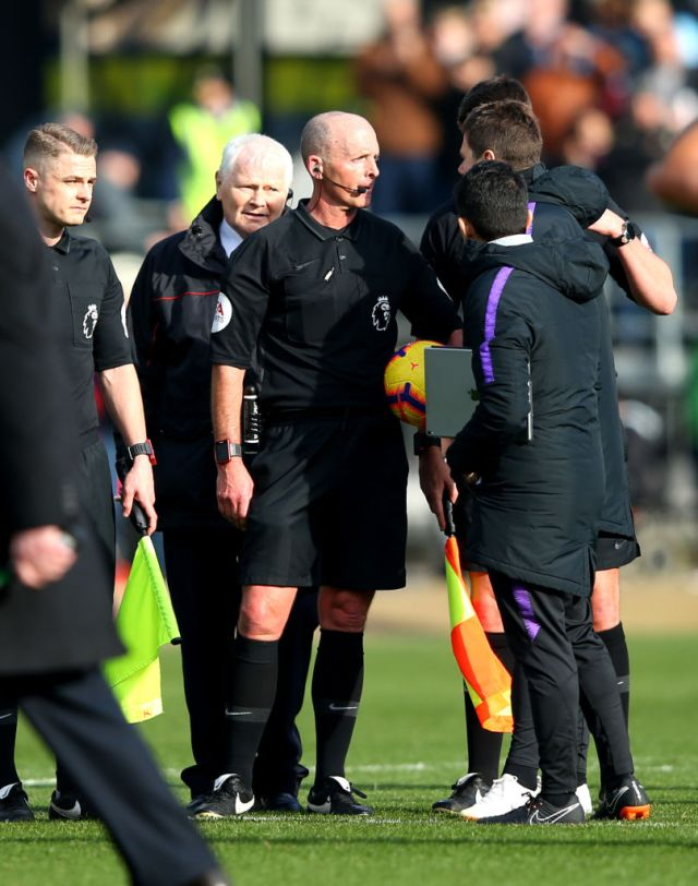 Mike Dean was due to officiate Spurs' next match against Chelsea but will now be at Manchester City v West Ham instead