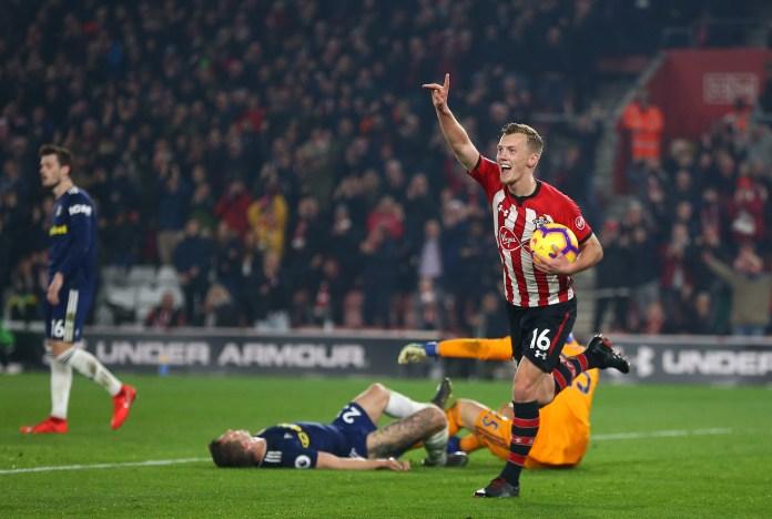 James Ward-Prowse celebrates Southampton's second
