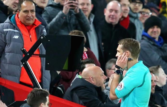 VAR caused controversy at Anfield last season