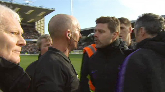 Pochettino appeared to be angered by something that was said in the dispute