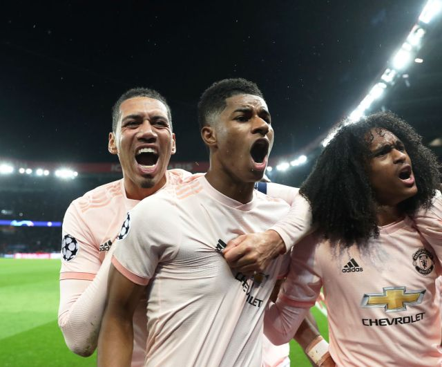 Marcus Rashford's injury-time penalty at the Parc des Princes had sent United into the last eight of the competition