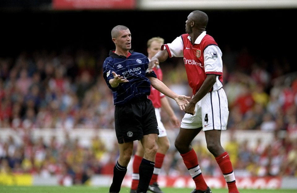 Everyone looked forward to Man United v Arsenal, especially midfield war Keane and Vieira