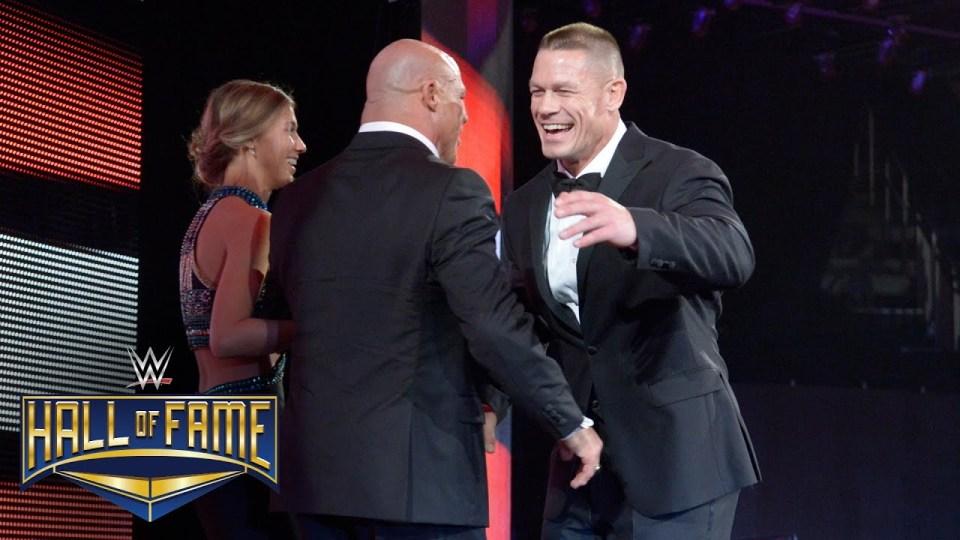 John Cena presents Kurt Angle for WWE Hall of Fame