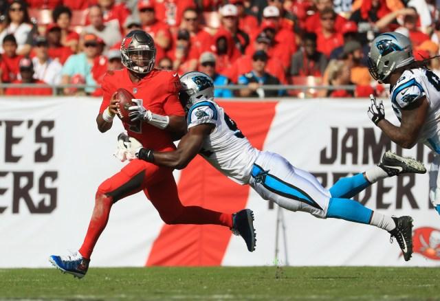 Efe Obada sacks Bucs quarterback Jameis Winston
