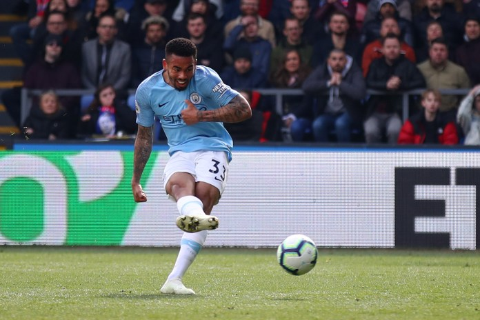 Gabriel Jesus sealed the victory for City as they fought against the pressure of the palace