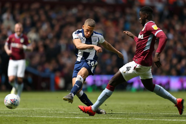 West Brom's Dwight Gayle scored against Aston Villa before being sent off