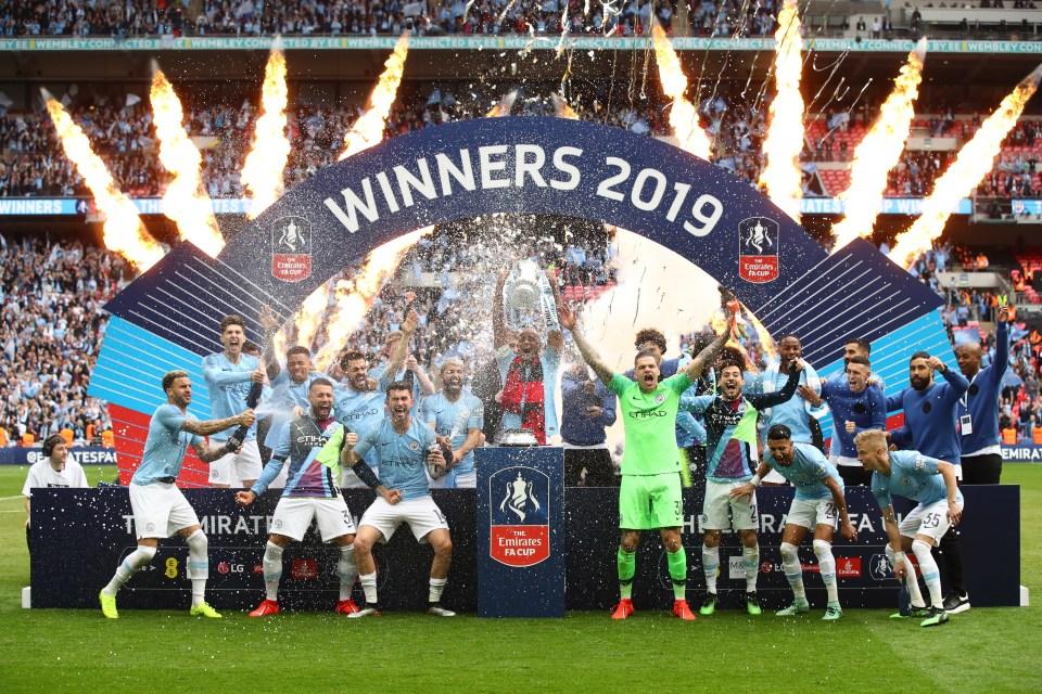 Manchester City Kitman Hilariously Celebrates Fa Cup