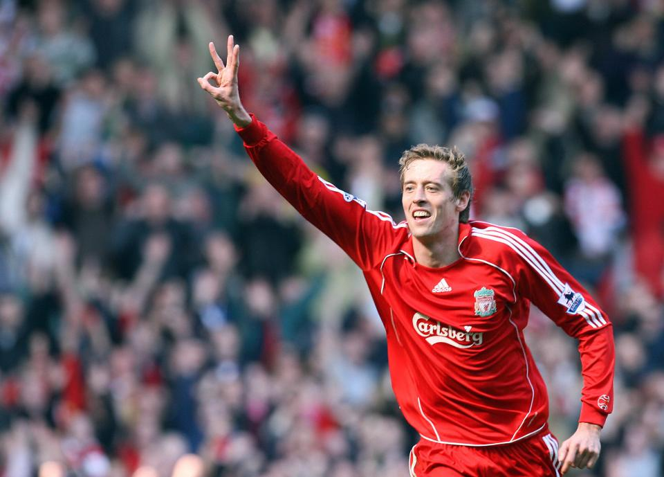 While Crouch has never scored more than ten goals in a Premier League season