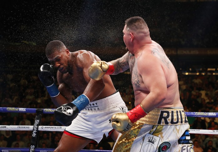 Ruiz Jr knocked Joshua down four times before winning in the seventh round
