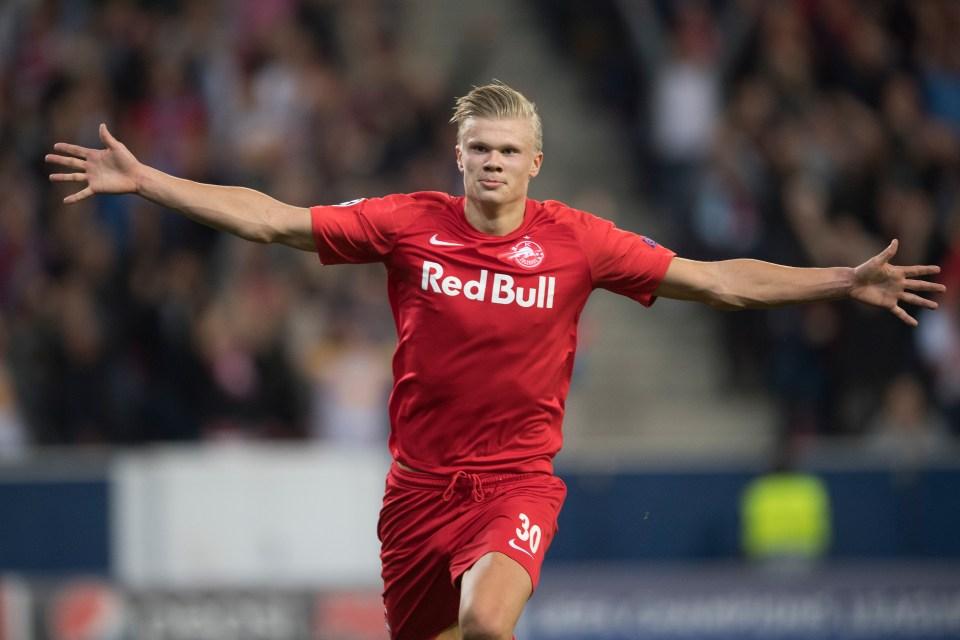 Red Bull Salzburg Wonderkid Erling Haaland Equals Historic
