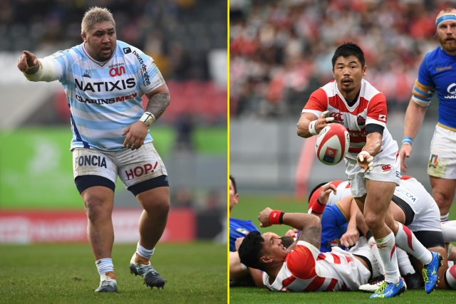 Tameifuna, at 24 stone, is the heaviest, while Japan scrum half Fumiaki Tanaka is the shortest at 5ft 5in and 11.5 stone