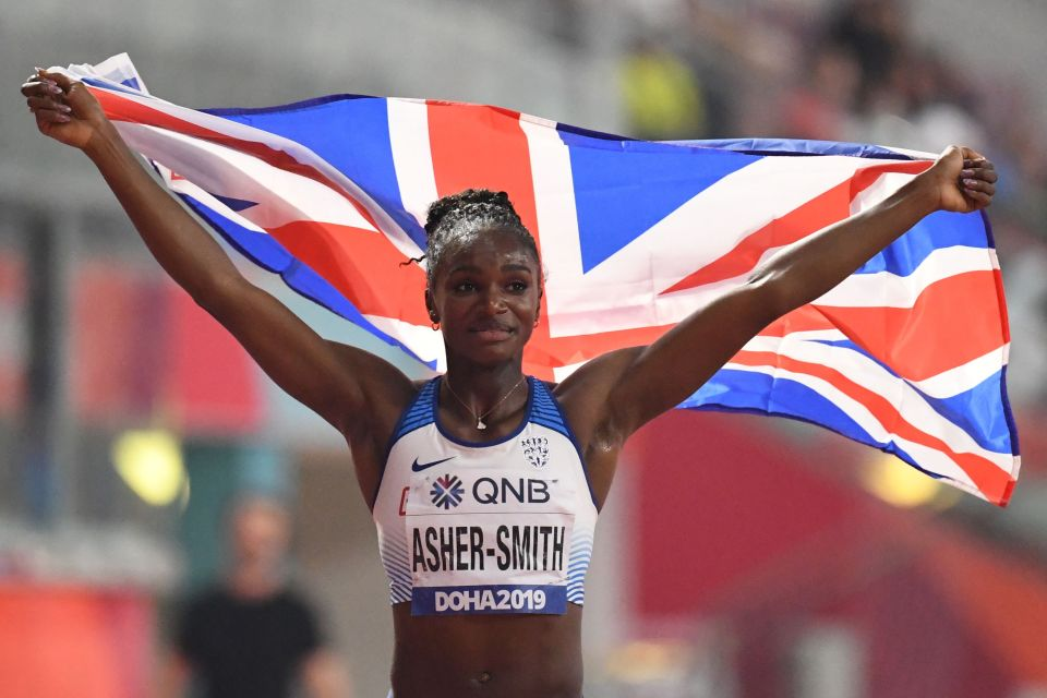 Dina Asher-Smith picked up her third medal of the championships