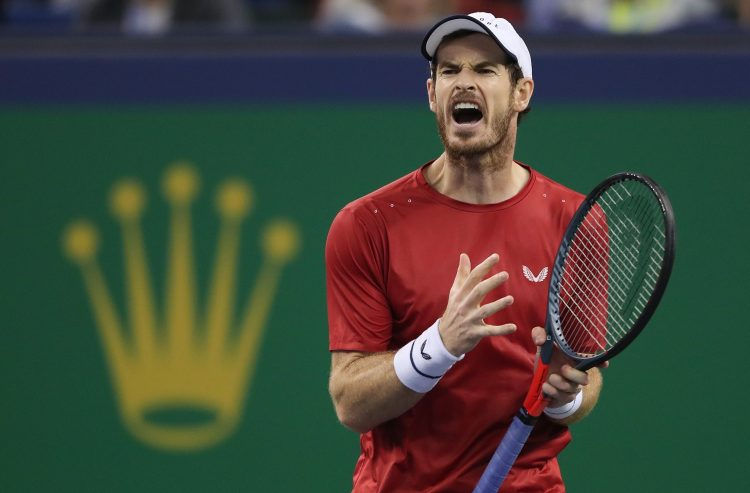 Murray was furious with his opponent during the second round of the Shanghai Masters