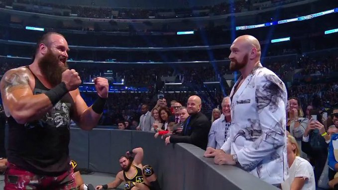 Tyson Fury and Braun Strowman do not like each other